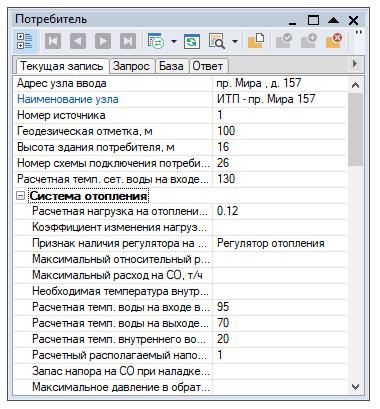 Ввод исходных данных для проведения расчёта сети