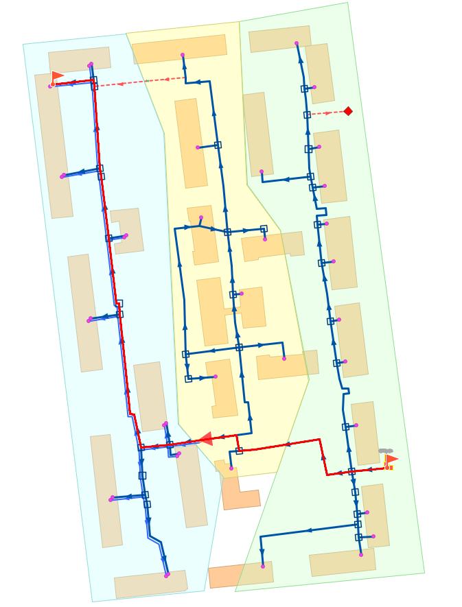 Путь для построения пьезометрического графика